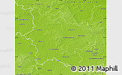 Physical Map of Elbe-Elster