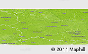 Physical Panoramic Map of Elbe-Elster