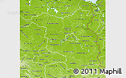 Physical Map of Brandenburg