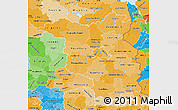 Political Shades Map of Brandenburg