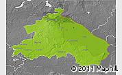 Physical 3D Map of Märkisch-Oderland, desaturated
