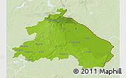 Physical 3D Map of Märkisch-Oderland, lighten