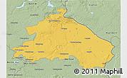 Savanna Style 3D Map of Märkisch-Oderland