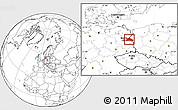 Blank Location Map of Märkisch-Oderland
