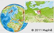 Physical Location Map of Märkisch-Oderland, highlighted parent region