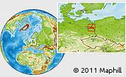 Physical Location Map of Märkisch-Oderland