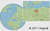 Savanna Style Location Map of Märkisch-Oderland
