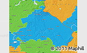 Political Map of Märkisch-Oderland
