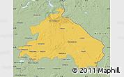 Savanna Style Map of Märkisch-Oderland