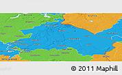 Political Panoramic Map of Märkisch-Oderland