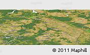 Satellite Panoramic Map of Märkisch-Oderland