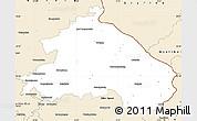 Classic Style Simple Map of Märkisch-Oderland