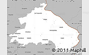 Gray Simple Map of Märkisch-Oderland