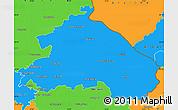 Political Simple Map of Märkisch-Oderland