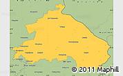 Savanna Style Simple Map of Märkisch-Oderland