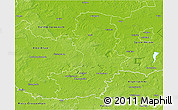Physical 3D Map of Oberspreewald-Lausitz