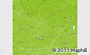 Physical Map of Oberspreewald-Lausitz