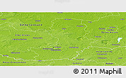 Physical Panoramic Map of Oberspreewald-Lausitz