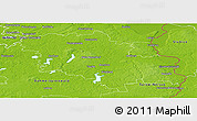 Physical Panoramic Map of Oder-Spree