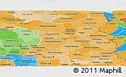Political Shades Panoramic Map of Brandenburg