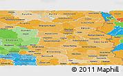 Political Shades Panoramic Map of Brandenburg