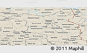 Shaded Relief Panoramic Map of Brandenburg