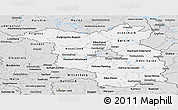 Silver Style Panoramic Map of Brandenburg