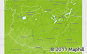 Physical 3D Map of Potsdam-Mittelmark