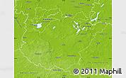 Physical Map of Potsdam-Mittelmark