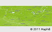 Physical Panoramic Map of Potsdam-Mittelmark