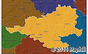 Political Map of Prignitz, darken