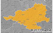 Political Map of Prignitz, desaturated