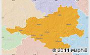 Political Map of Prignitz, lighten