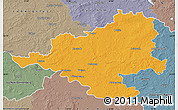 Political Map of Prignitz, semi-desaturated