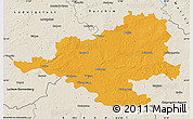 Political Map of Prignitz, shaded relief outside