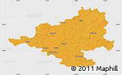Political Map of Prignitz, single color outside