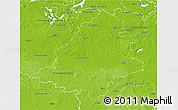 Physical 3D Map of Teltow-Fläming