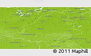 Physical Panoramic Map of Teltow-Fläming