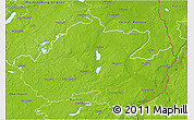 Physical 3D Map of Uckermark