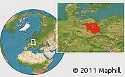 Satellite Location Map of Brandenburg