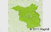 Physical Map of Brandenburg, lighten