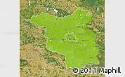 Physical Map of Brandenburg, satellite outside