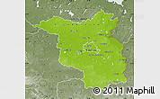 Physical Map of Brandenburg, semi-desaturated