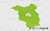Physical Map of Brandenburg, single color outside