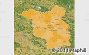 Political Map of Brandenburg, satellite outside
