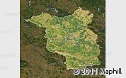 Satellite Map of Brandenburg, darken