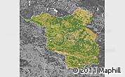 Satellite Map of Brandenburg, desaturated