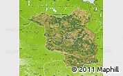 Satellite Map of Brandenburg, physical outside