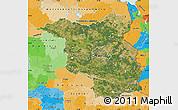 Satellite Map of Brandenburg, political outside