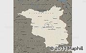 Shaded Relief Map of Brandenburg, darken